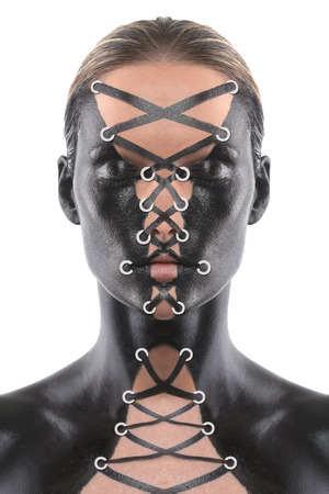 bodypaint: Creative Art Concept Bodypainted on a Woman as Corset