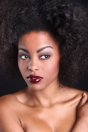 contemplated: Stunning Portrait of an African American Black Woman