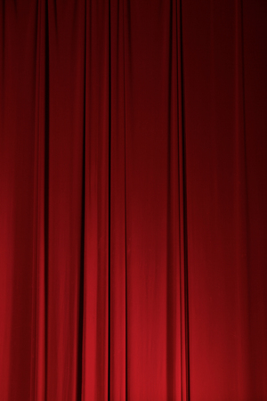 archiitecture: Theater Stage Drape Curtain Elements Easily Add and Design Background Stock Photo