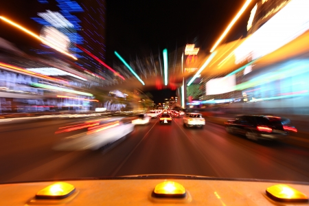 Image Driving Down the Las Vegas Strip Time Lapsed