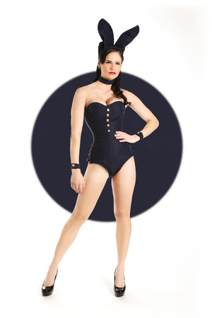 posa sexy: Splendida Retro Pinup Girl in Pose Sexy