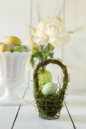 Spring Easter Holiday Themed Still Life Scene in Natural Light