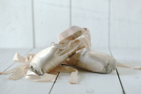 Romantic Posed Pointe Shoes in Natural Light  photo