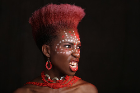 contemplated: Beautiful Expressive African American Woman With Dramatic Lighting