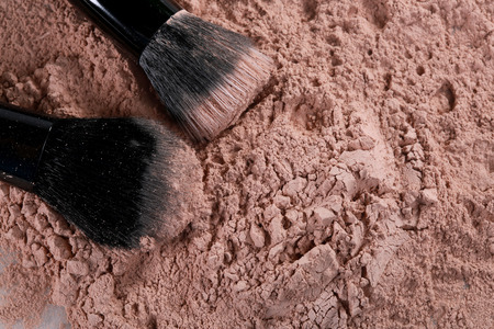 Powder Make Up Foundation Close Up With Detail Stock Photo