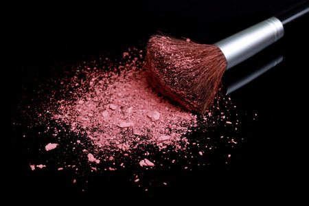 touch base: Powder Make Up Foundation Close Up With Detail Stock Photo