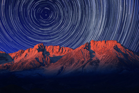 timelapse: Vortex Night Exposure Star Trails of the Sky in Bishop California