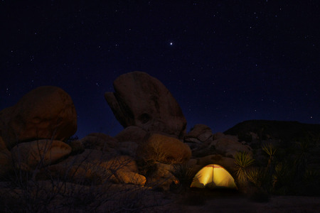 joshua: Colorful Night Camping in Joshua Tree National Park