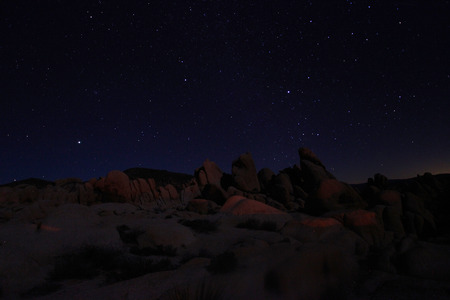 joshua: Night Sky in Joshua Tree National Park Stock Photo