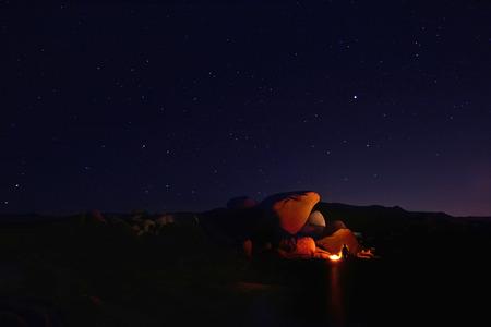 joshua tree  national park: Colorful Night Camping in Joshua Tree National Park