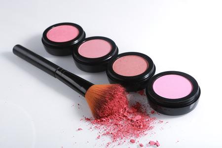 Pink Blush Sets on White Background