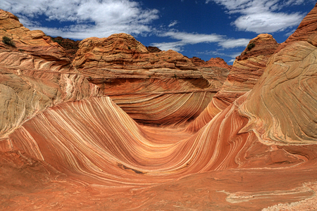 The Wave, Arizona, Canyon Rock Formation. Vermillion Cliffs, Paria Canyon State Park in the United States Banco de Imagens - 76327967