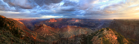 Panorama of the Grand Canyon From the South Rim Stock Photo