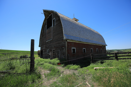 Old Barn Out in Rural in Palouse Washington