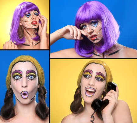 Real Women Turned Comic Strip Characters With Cosmetics