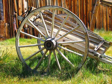bodie: wagon wheel in Bodie