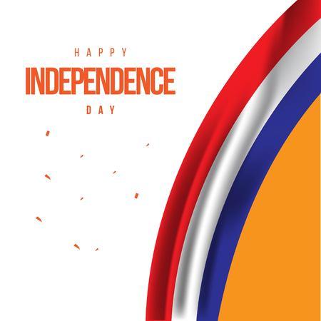 Joyeux Jour de l'Indépendance Pays-Bas Vector Template Design Illustration Vecteurs