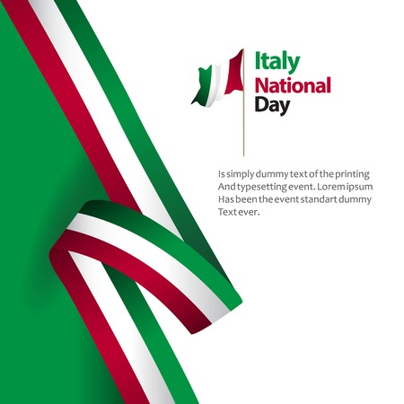 Italy National Day Vector Template Design Illustration
