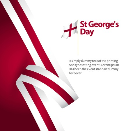 ST George's Day Vector Template Design Illustration