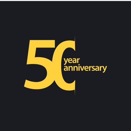 50 Jahre Jubiläum Vektor Vorlage Design Illustration