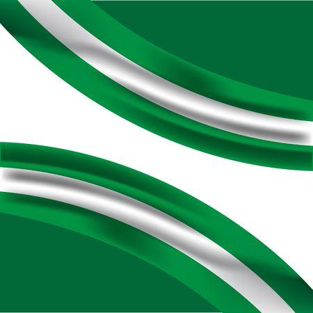 Nigeria Flag Vector Template Design Illustration Illustration