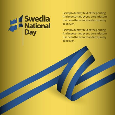 Sweden National Day Vector Template Design Illustration