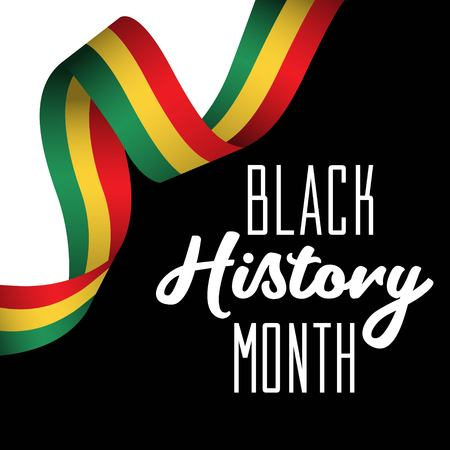 Black History Month Vector Template Design Illustration 矢量图像