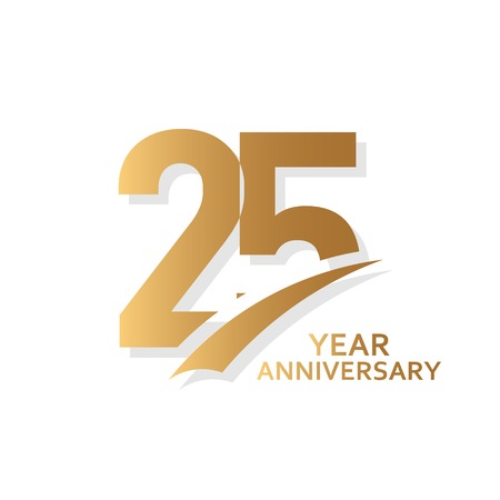 25 lat rocznica szablon wektor ilustracja projektu