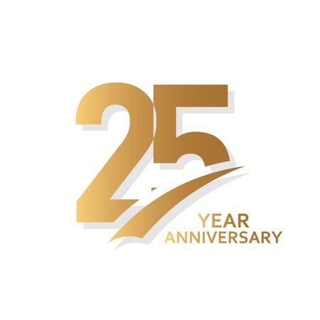 Ilustración de diseño de plantillas vectoriales de aniversario de 25 años
