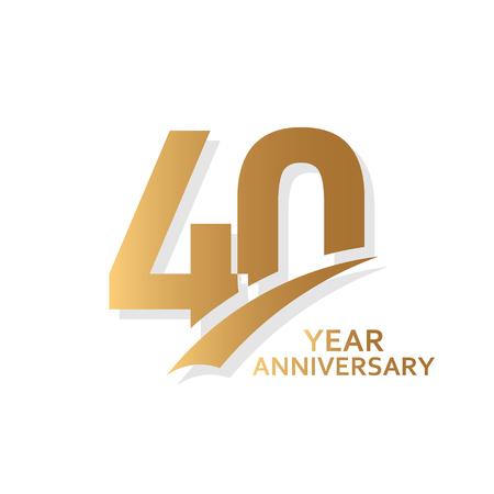 Ilustración de diseño de plantillas vectoriales de 40 años de aniversario