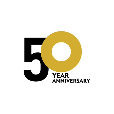 50-jarig jubileum vector sjabloonontwerp illustratie