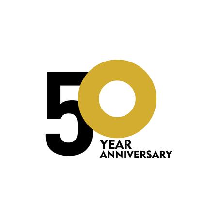 Ilustración de diseño de plantillas vectoriales de 50 años de aniversario