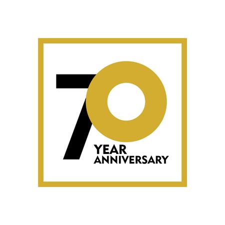 70 Year Anniversary Vector Template Design Illustration