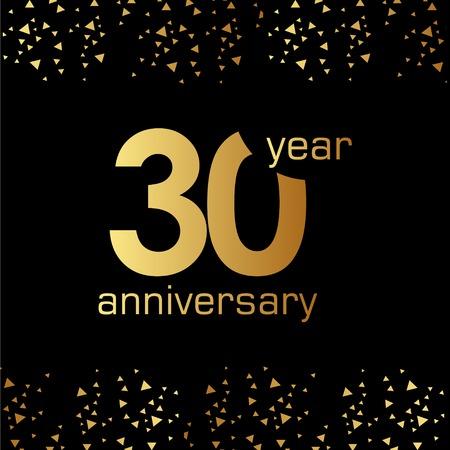30 Year Anniversary Vector Template Design Illustration Vettoriali