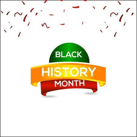 Black History Month Vector Template Design Illustration 일러스트