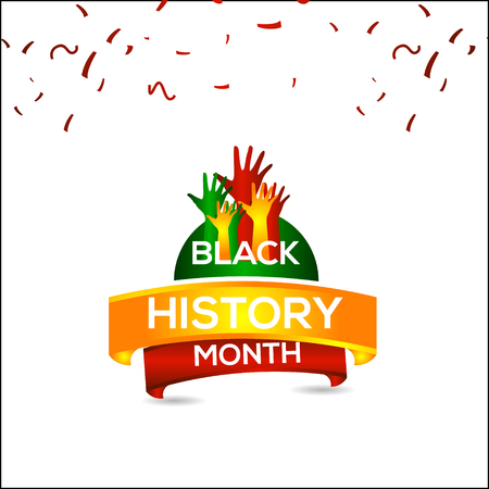 Black History Month Vector Template Design Illustration Çizim