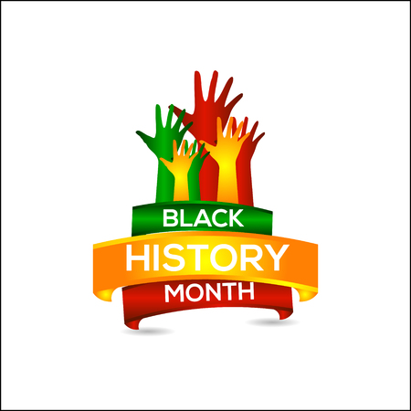 Czarny Miesiąc Historii Wektor Szablon Projektu Ilustracja Ilustracje wektorowe