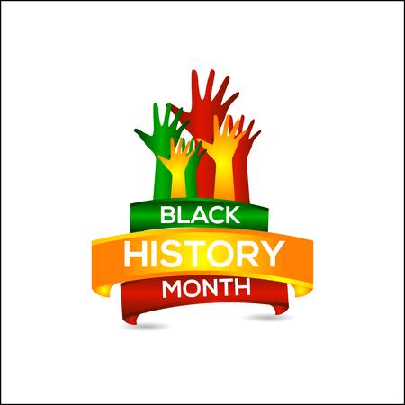 Zwarte geschiedenis maand vector sjabloonontwerp illustratie Vector Illustratie