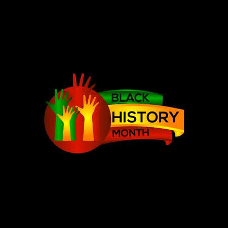 Black History Month Vector Template Design Illustration Çizim