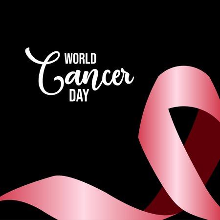 World Cancer Day Vector Template Design Illustration Иллюстрация