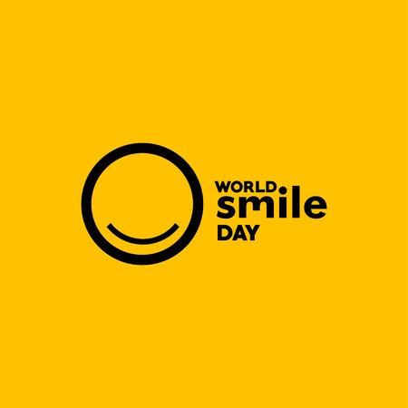 Word Smile Day Vector Template Design Illustration