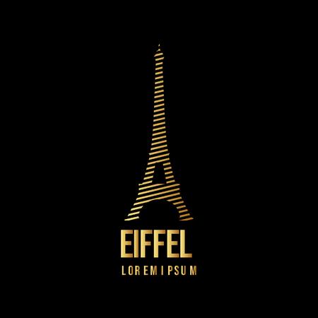 Eiffel Logo Vector Template Design Illustration