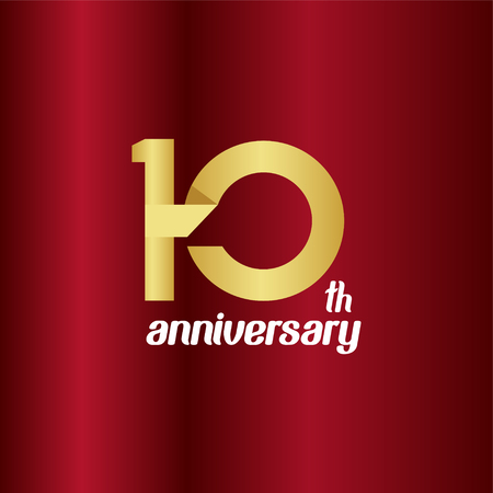 10 Year Anniversary Vector Template Design Illustration Banque d'images - 118906708