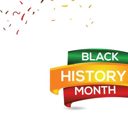 Black History Month Vector Template Design Illustration Ilustrace