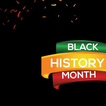 Black History Month Vector Template Design Illustration Ilustracja