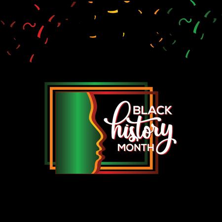 Black History Month Vector Template Design Illustration 矢量图像