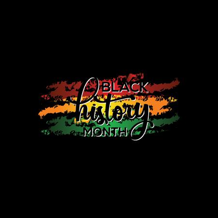 Zwarte geschiedenis maand vector sjabloonontwerp illustratie