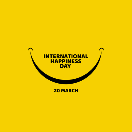 International Happiness Day Vector Template Design Illustration