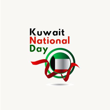 Illustration de conception de modèle de vecteur de la fête nationale du Koweït