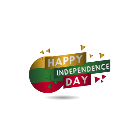 Happy Lithuania Independence Day Vector Template Design Illustration